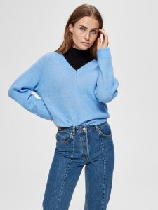 selected-femme-naisten-neule-lanna-ls-knit-v-neck-vaaleansininen-1