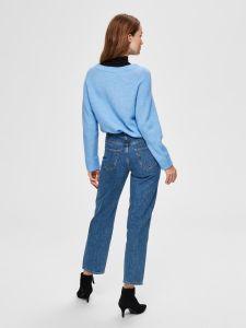 selected-femme-naisten-neule-lanna-ls-knit-v-neck-vaaleansininen-2