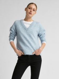 selected-femme-naisten-neule-lulu-ls-knit-v-neck-vaaleansininen-1