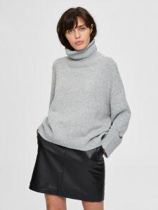selected-femme-naisten-neule-mino-ls-knit-boxy-vaaleanharmaa-1