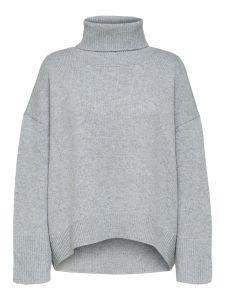 selected-femme-naisten-neule-mino-ls-knit-boxy-vaaleanharmaa-2
