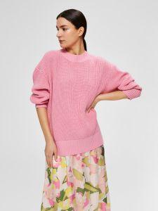 selected-femme-naisten-neule-vaaleanpunainen-1