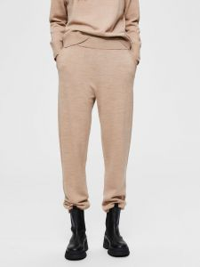 selected-femme-naisten-neulehousut-slfsandra-wool-mw-knit-pants-beige-1