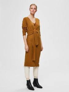 selected-femme-naisten-neulemekko-naya-7-8-wrap-tie-dress-kameli-1