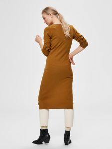 selected-femme-naisten-neulemekko-naya-7-8-wrap-tie-dress-kameli-2
