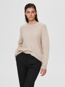 selected-femme-naisten-neulepaita-lulu-ls-knit-o-neck-kerma-1