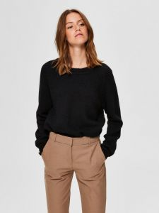 selected-femme-naisten-neulepaita-lulu-ls-knit-o-neck-musta-1