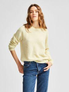 selected-femme-naisten-neulepaita-lulu-ls-knit-o-neck-sitruunankeltainen-1