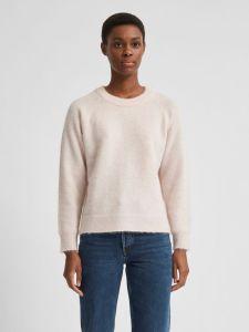 selected-femme-naisten-neulepaita-lulu-ls-knit-o-neck-vaaleanpunainen-1