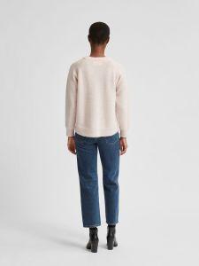 selected-femme-naisten-neulepaita-lulu-ls-knit-o-neck-vaaleanpunainen-2