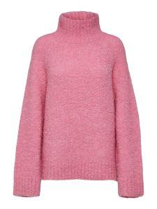 selected-femme-naisten-neulepusero-slfmyah-ls-knit-roll-neck-pinkki-2