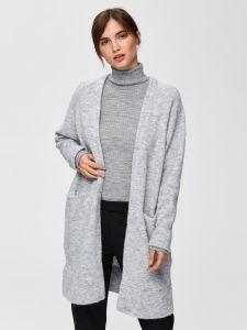 selected-femme-naisten-neuletakki-lanna-ls-knit-cardigan-vaaleanharmaa-1