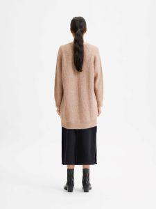 selected-femme-naisten-neuletakki-lulu-ls-knit-long-cardigan-beige-2