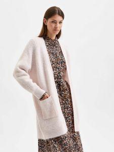 selected-femme-naisten-neuletakki-lulu-ls-knit-long-cardigan-vaaleanpunainen-1