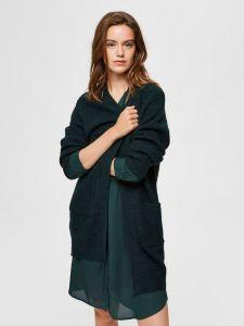 selected-femme-naisten-neuletakki-lulu-ls-knit-long-gardican-armeijanvihrea-1