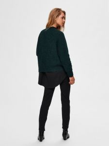 selected-femme-naisten-neuletakki-lulu-ls-knit-short-cardigan-armeijanvihrea-2