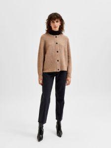 selected-femme-naisten-neuletakki-lulu-ls-knit-short-cardigan-beige-1