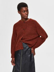 selected-femme-naisten-neuletakki-lulu-ls-knit-short-cardigan-poltettu-oranssi-1