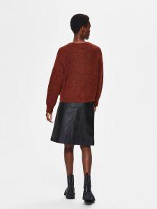 selected-femme-naisten-neuletakki-lulu-ls-knit-short-cardigan-poltettu-oranssi-2
