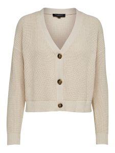 selected-femme-naisten-neuletakki-sinna-ls-knit-beige-3