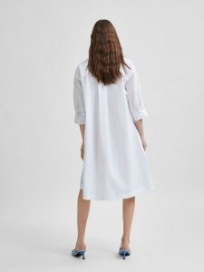 selected-femme-naisten-paitamekko-slfamber-3-4-shirt-dress-valkoinen-2
