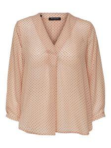 selected-femme-naisten-paitapusero-poline-7-8-aop-top-vaaleanpunainen-kuosi-1