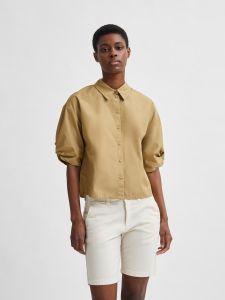 selected-femme-naisten-pusero-slflilo-ss-shirt-sinapinkeltainen-1