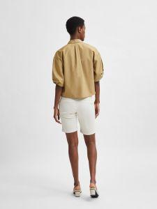 selected-femme-naisten-pusero-slflilo-ss-shirt-sinapinkeltainen-2