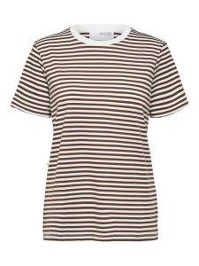 selected-femme-naisten-t-paita-my-perfect-ss-tee-raidallinen-ruskea-1