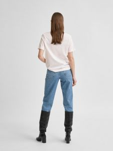 selected-femme-naisten-t-paita-slfstandard-ss-v-neck-tee-vaaleanpunainen-2