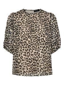 selected-femme-naisten-t-paita-tilda-2-4-top-ruskea-kuosi-1
