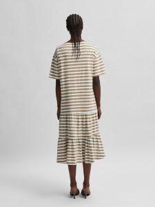 selected-femme-naisten-trikoomekko-slfreed-2-4-midi-dress-raidallinen-valkoinen-2