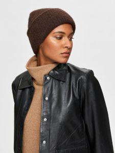 selected-femme-pipo-linna-knit-beanie-tummanruskea-1