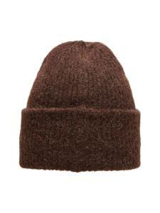 selected-femme-pipo-linna-knit-beanie-tummanruskea-2