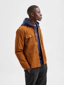 selected-homme-miesten-takki-chore-jacket-keskiruskea-1