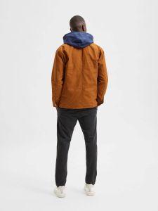 selected-homme-miesten-takki-chore-jacket-keskiruskea-2