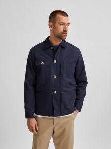selected-homme-miesten-takki-chore-jacket-tummansininen-1