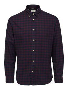 selected-miesten-flanellipaita-slim-flannel-shirt-punainen-ruutu-1