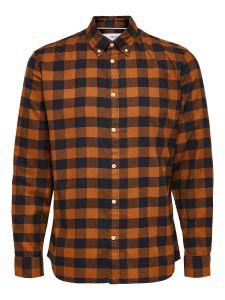selected-miesten-flanellipaita-slim-flannel-shirt-ruskea-ruutu-1
