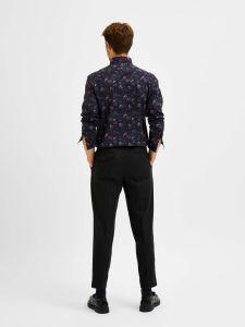 selected-miesten-kauluspaita-formal-shirt-ls-button-down-musta-kuosi-2