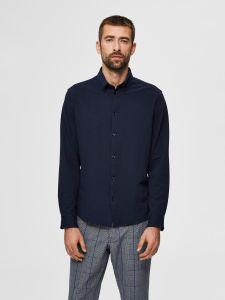 selected-miesten-kauluspaita-slim-oliver-flex-shirt-tummansininen-1