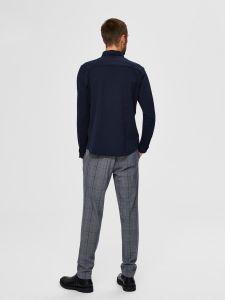 selected-miesten-kauluspaita-slim-oliver-flex-shirt-tummansininen-2