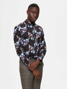 selected-miesten-kauluspaita-slim-pen-randall-shirt-mustavalkoinen-1