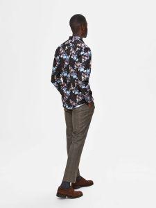 selected-miesten-kauluspaita-slim-pen-randall-shirt-mustavalkoinen-2