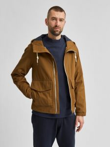 selected-miesten-kevattakki-baker-cotton-jacket-tummanruskea-1
