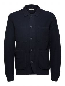 selected-miesten-neuletakki-jackson-knitted-cardigan-tummansininen-1