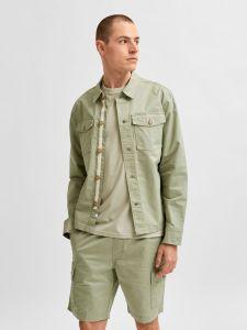 selected-miesten-paita-ellion-linen-shirt-armeijanvihrea-1