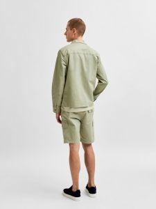 selected-miesten-paita-ellion-linen-shirt-armeijanvihrea-2