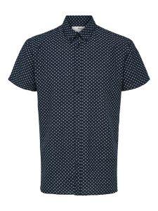 selected-miesten-paita-slim-hart-shirt-tummansininen-1