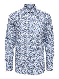 selected-miesten-paita-slim-pen-danny-shirt-sininen-kuosi-1